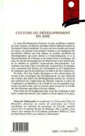 Culture Du Developpement En Asie - 4ème de couverture - Format classique