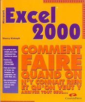 Excel 2000 - Intérieur - Format classique