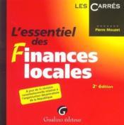 Essentiel Des Finances Locales 2e (L') - Couverture - Format classique