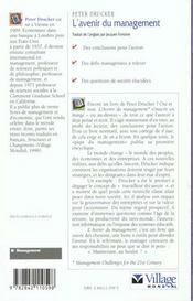 L'Avenir Du Management - 4ème de couverture - Format classique