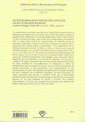 Autocelebration Des Elites Locales Dans Le Monde Romain. Contexte, Te Xtes, Images, 2e S. Av. J.-C. - 4ème de couverture - Format classique