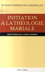 Initiation à la théologie mariale - Intérieur - Format classique