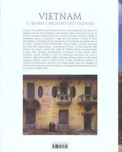Vietnam a travers architecture coloniale - 4ème de couverture - Format classique