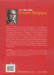 D'outre Belgique - 4ème de couverture - Format classique