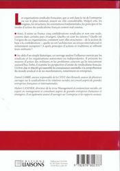 Les Organisations Syndicales En France - 4ème de couverture - Format classique