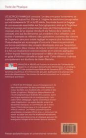 Électrodynamique ; 125 exercices avec solutions ; bachelor ; licence ; classes prépas - 4ème de couverture - Format classique
