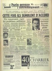 Paris Presse L'Intransigeant N°5371 du 17/03/1962 - Couverture - Format classique