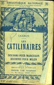 Les Catilinaires - Discours Pour Marcellus Discours Pour Milon. - Couverture - Format classique