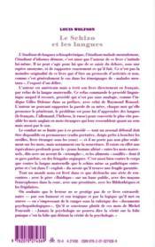 Le schizo et les langues - 4ème de couverture - Format classique