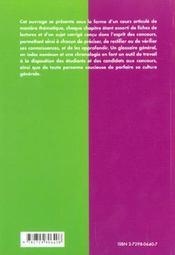 Culture G. Classes Preparatoires Instituts D'Etudes Politiques Concours Administratifs Ena - 4ème de couverture - Format classique