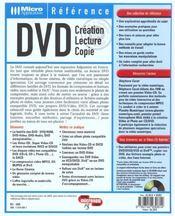 Dvd - 4ème de couverture - Format classique
