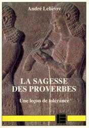 Sagesse La Des Proverbes - Couverture - Format classique