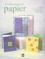 Confections En Papier - Intérieur - Format classique