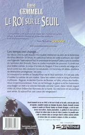 Le cycle de Drenaï ; le roi sur le seuil - 4ème de couverture - Format classique