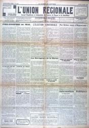 Union Regionale (L') N°1019 du 10/03/1938 - Couverture - Format classique