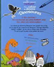 Mon cahier de dessins de dinosaures - 4ème de couverture - Format classique