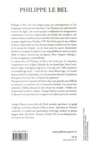 Philippe le Bel - 4ème de couverture - Format classique
