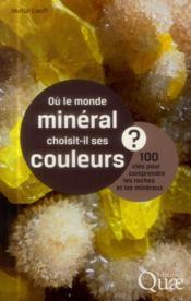 Ou le monde mineral choisit il ses couleurs? 100 cles pour comprendre les roches et les mineraux
