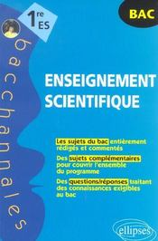 Bacchannales ; 1ère Es ; Enseignement Scientifique ; Sujets Du Bac Et Questions/Réponses - Intérieur - Format classique