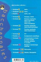 Bacchannales ; 1ère Es ; Enseignement Scientifique ; Sujets Du Bac Et Questions/Réponses - 4ème de couverture - Format classique