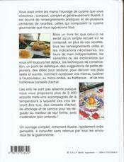 Encyclopedie de la cuisine - 4ème de couverture - Format classique