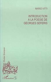 Introduction A La Poesie De Georges Seferis - Intérieur - Format classique
