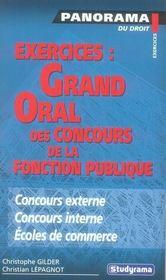 Exercices : Grand Oral Des Concours De La Fonction Publique - Intérieur - Format classique