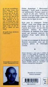 Seuils - 4ème de couverture - Format classique