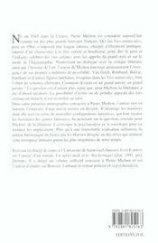Pierre michon. la grace par les oeuvres - 4ème de couverture - Format classique