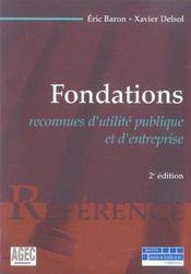 Fondations reconnues d'utilite publique et d'entreprise - 2e ed. (2e édition) - Intérieur - Format classique