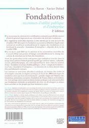 Fondations reconnues d'utilite publique et d'entreprise - 2e ed. (2e édition) - 4ème de couverture - Format classique