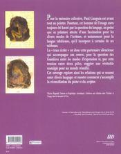 Paul Gauguin, La Trace Ecrite - 4ème de couverture - Format classique