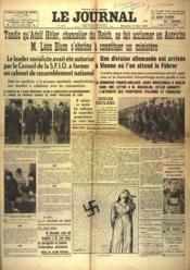 Journal (Le) N°16581 du 13/03/1938 - Couverture - Format classique