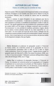 Autour du lac Tchad ; enjeux et conflits pour le contrôle de l'eau - 4ème de couverture - Format classique