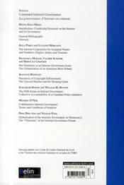 Revue Francaise D'Etudes Americaines N.134 ; Internet Governance ; La Gouvernance D'Internet - 4ème de couverture - Format classique