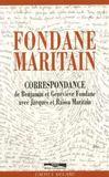 Correspondances fondane/maritain