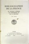 Bibliographie De La France N°53 du 31/12/1954