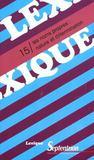 Revue Lexique T.15