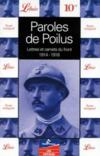 Livres - Paroles de poilus