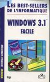 Windows 3.1 facile. Windows interface graphique
