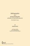 Bibliographie de la presse française politique et d'information générale des origines à 1944 t.8 ; ardennes