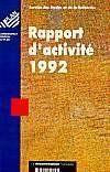 Rapport d'activité 1992