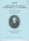 Autres écrits concernant l'astronomie et le calendrier ; théorie de la musique ; table des sesterces