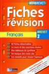 Defibrevet ; Fiches De Revision ; Français ; 3e (édition 2011)