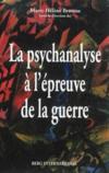 La psychanalyse à l'épreuve de la guerre