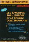 Les Epreuves Sur L'Europe Et Le Monde Contemporain Tous Ministeres Fonction Publique
