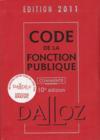 Code de la fonction publique commente (edition 2011)