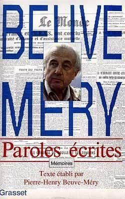 Paroles ecrites  - Hubert Beuve Mery
