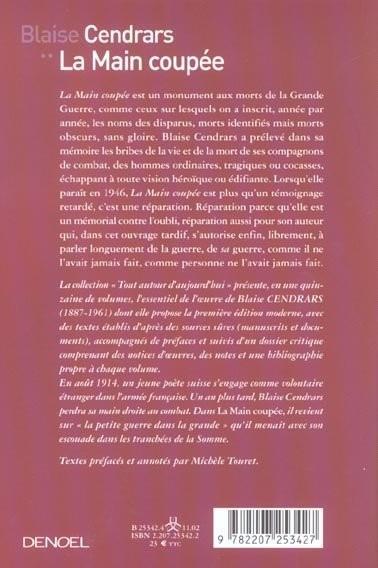 Livre oeuvres compl tes t 6 la main cou e 1918 la - La main coupee blaise cendrars resume ...