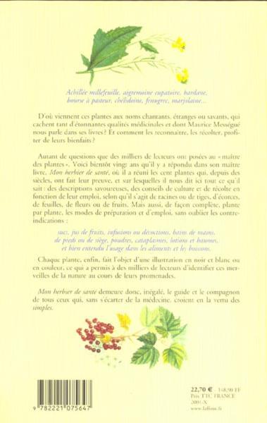Livre - Mon Herbier De Sante - Ne - Maurice Mességué